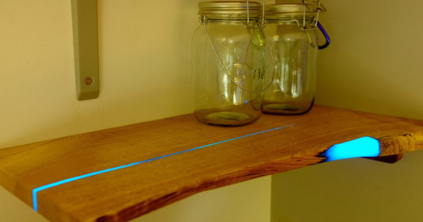 Absolutely Wicked DIY Glow-In-The-Dark Wooden Shelves